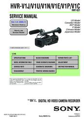 sony hvr v1u service manual pdf download rh manualslib com sony v1u manual hvr v1u manual pdf