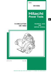 Hitachi CM 4SB2 Technical Data And Service Manual