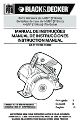 Black & Decker Pro Line TC1200 Instruction Manual