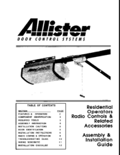 allister century 710 manuals rh manualslib com Garage Door Wiring 3 Wire Garage Door Wiring Schematic