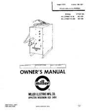 Miller Millermatic 35S Manuals