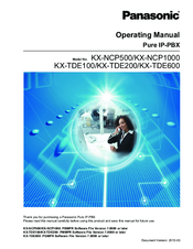 Panasonic KX-NCP500 Operating Manual