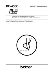 Brother BE-438C Instruction Manual