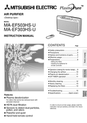 Mitsubishi Electric MA-EF503HS-U Instruction Manual