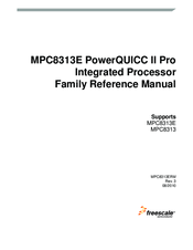 Freescale Semiconductor MPC8313 PowerQUICC II Pro Family Reference Manual