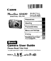 canon powershot sd630 digital elph camera manuals rh manualslib com