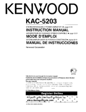 Kenwood KAC-5203 Instruction Manual