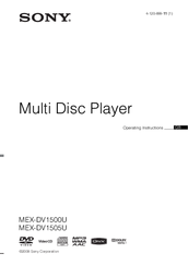 Sony MEX-DV800 Operating Instructions Manual