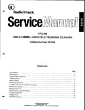 radio shack pro 94 manuals rh manualslib com PRO-94 Scanner Software PRO-94 Mods