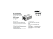 Sanyo VCC-6592P Instruction Manual