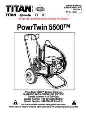 TITAN TOOL POWRTWIN 5500 449-700 GAS OWNER'S MANUAL Pdf