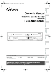 Funai T3B-N8182DB Manuals