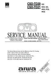 aiwa csd td21 manuals rh manualslib com Aiwa Model Aiwa Logo