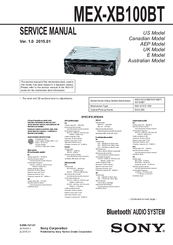 sony mex xb100bt manuals