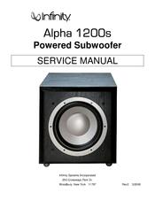 infinity alpha 1200s service manual pdf download.