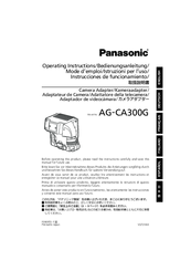 Panasonic AG-CA300G Operating Instructions Manual