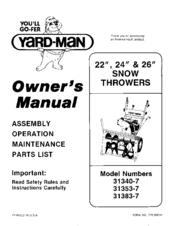 yard man 31353 7 manuals rh manualslib com Car Owners Manual yardman yard bug owners manual