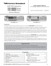 VERTEX VX-4500 SERIES SERVICE MANUAL Pdf Download