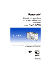 Panasonic Lumix DMC-SZ10 Operating Instructions Manual
