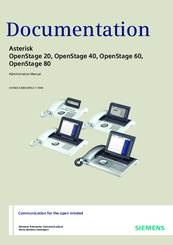 Siemens Asterisk OpenStage 60 Owner's Manual