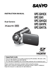 sanyo xacti vpc sh1 manuals rh manualslib com sanyo xacti waterproof user manual Sanyo Xacti CG10 Manual