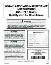 armstrong air conditioning 4scu13le series manuals rh manualslib com Attic Air Conditioner Installation Split Hose Window Air Conditioner Installation