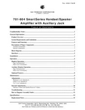 Gai-tronics 701-904 SmartSeries Manuals