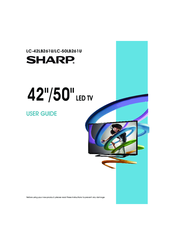 sharp lc 42lb261u user manual pdf download rh manualslib com Sharp LC60LE640U LC Model 50Lb150u