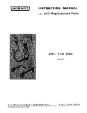 Hobart D300 Manuals