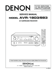 denon avr 1803 883 manuals rh manualslib com 883 service manual pdf 883 service manual pdf