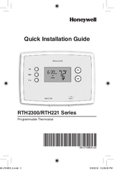 honeywell rth221 series manuals honeywell rth221 series quick installation manual