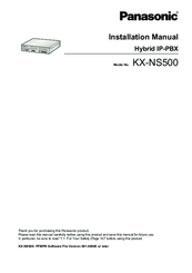 Panasonic KX-NS500 Installation Manual