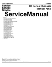 Philips B8 Series Service Manual
