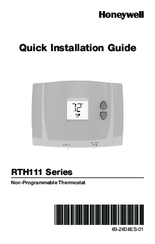 honeywell rth111 series manuals honeywell rth111 series quick installation manual 48 pages non programmable thermostat