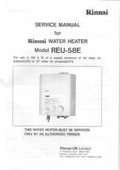 rinnai reu 58e service manual pdf download rh manualslib com rinnai water heater troubleshooting rinnai water heater manual japan