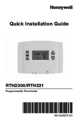 how to change battery in honeywell thermostat rth2310b