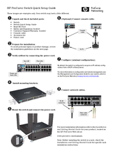 HP procurve switch Quick Setup Manual