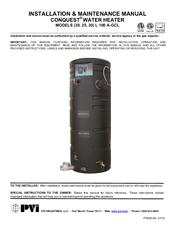 pvi industries conquest 30 l 100 a gcl manuals rh manualslib com PVI Water Heater Problems PVI Water Heater Problems