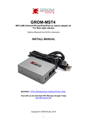 Grom Audio GROM-MST4 AUDI MMI 2G Manuals