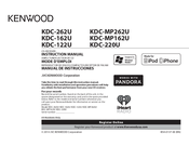 Kenwood Kdc Mp262u Manuals Manualslib