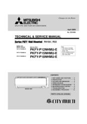 mitsubishi electric pkfy-p12nhmu-e technical & service manual pdf download