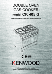 Kenwood CK 405 Instructions For Use - Installation Advice