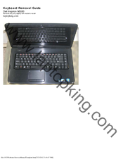 Dell Inspiron N5050 Keyboard Removal Manual