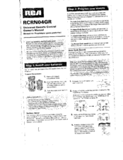 rca rcrn04gr manuals rh manualslib com rca universal remote rcrn04gr owners manual rca remote owners manual