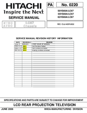 hitachi 55vs69a manuals rh manualslib com Hitachi Schematics Hitachi Ownersmanuals