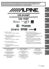 alpine cde 195bt manuals rh manualslib com Alpine Markings Alpine Radio