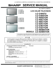 sharp lc46sb57un 46 lcd tv manuals rh manualslib com sharp led tv service manual sharp aquos tv service manual
