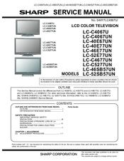 sharp lc c4067un aquos full hd 1080p lcd hdtv manuals Insignia TV Repair Manual sharp lcd tv ga667wjsa owners manual