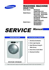Samsung wf328aaw wf328aag wf328aar washer service manual repair.