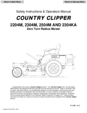 country clipper 2204m safety instructions operator s manual pdf rh manualslib com Wahl Clipper Vacuum Attachment Bressant Manual Hand Clipper